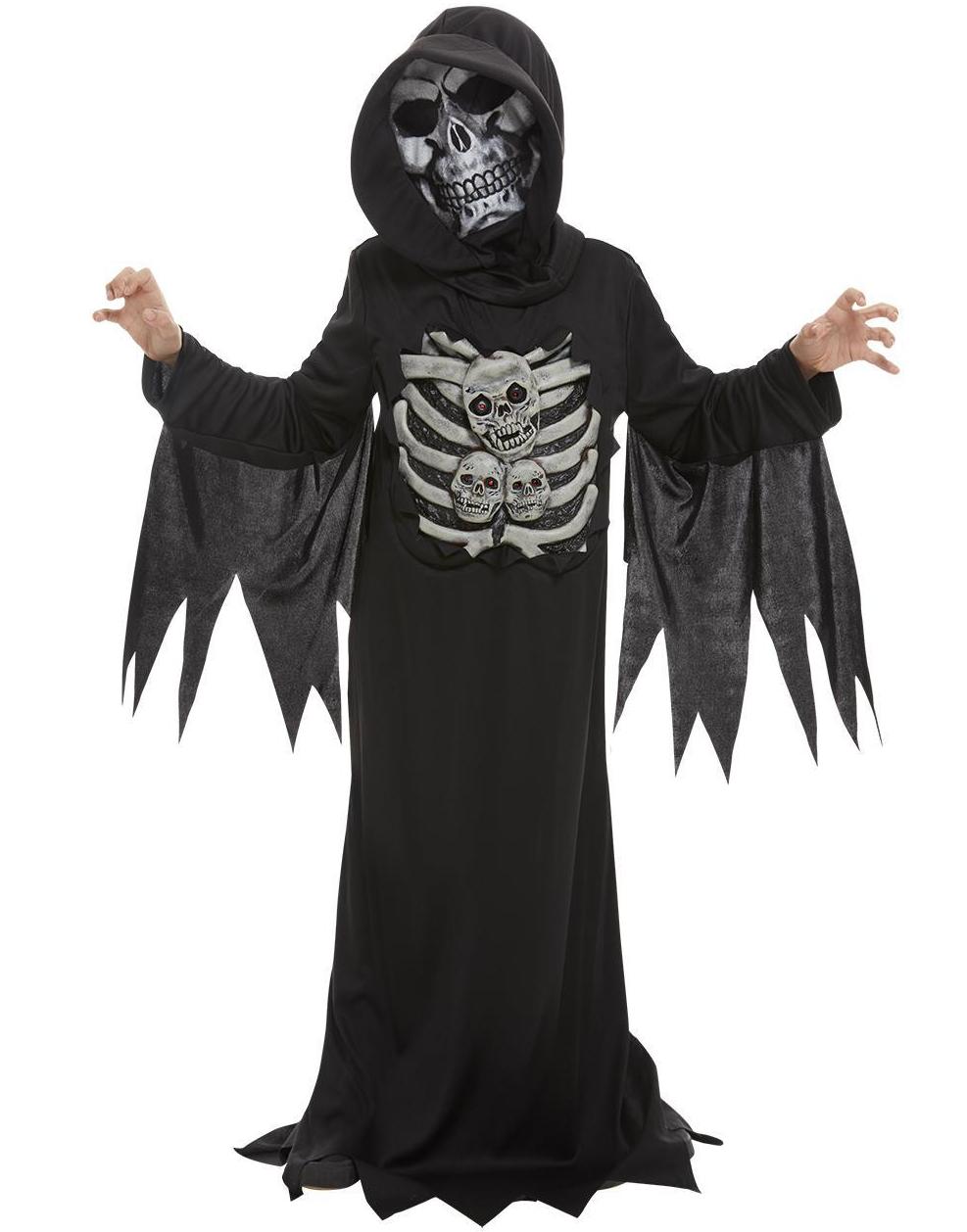Skelett Reaper Dräkt till Barn med Mask
